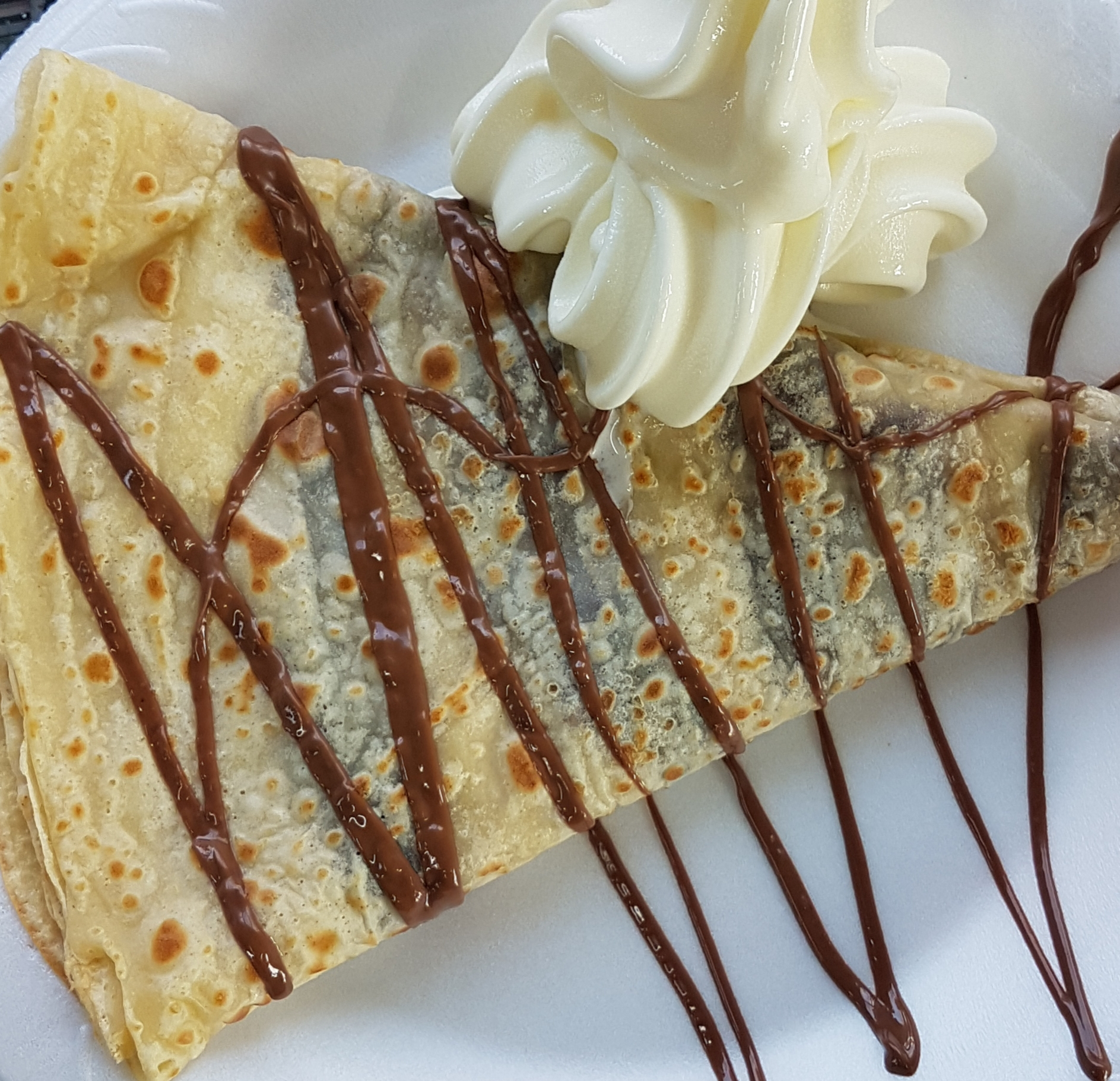 Freshly cooked crepes